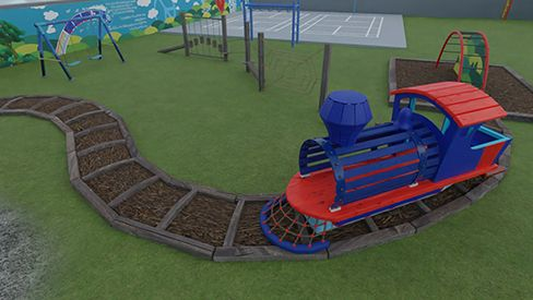 Playground Train Track - Pakistan