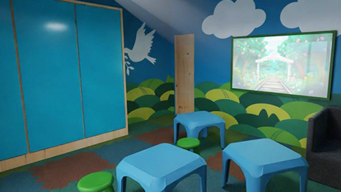 Writing wall panels - Playroom - Greece