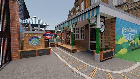 Playground Station Platform - UK