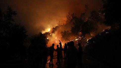 Forest fire in Muğla, Turkey